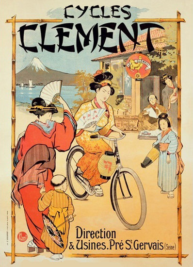 Cycles Clement St Gervais Seine Bicycles Japan | Vintage Travel Posters 1891-1970