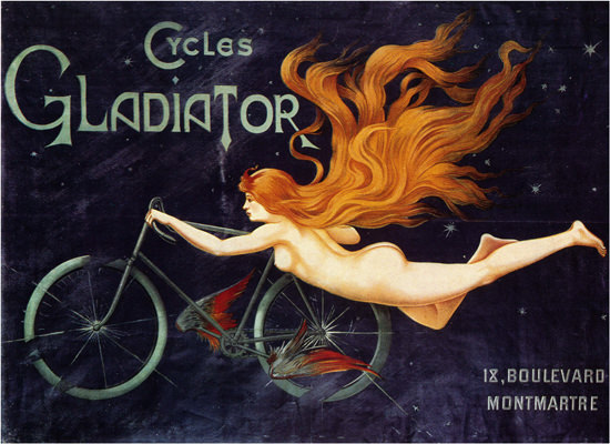 Cycles Gladiator Nude Montmartre Paris Massias | Sex Appeal Vintage Ads and Covers 1891-1970