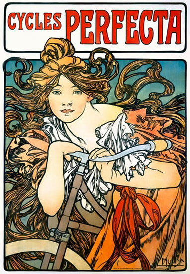 Cycles Perfecta Art Nouveau Alphonse Mucha | Sex Appeal Vintage Ads and Covers 1891-1970