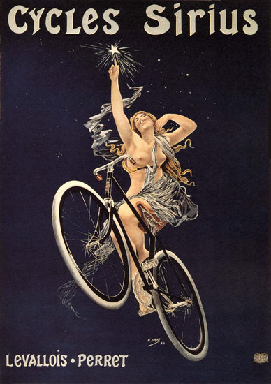 Cycles Sirius Nude Rue Duret Paris Henri Gray | Sex Appeal Vintage Ads and Covers 1891-1970