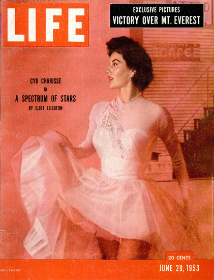 Cyd Charisse Dancer 29 Jun 1953 Copyright Life Magazine | Life Magazine Color Photo Covers 1937-1970