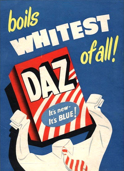 DAZ Laundry Detergent Boils Whitest Of All | Vintage Ad and Cover Art 1891-1970