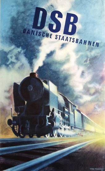 DSB Daenische Staatsbahnen 1950 | Vintage Travel Posters 1891-1970