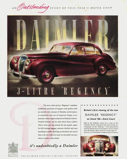 Daimler 3 Litre Regency Saloon 1952 | Vintage Cars 1891-1970