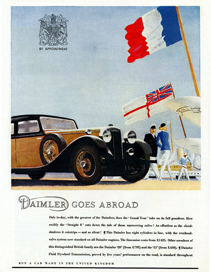 Daimler Straight 8 1935 Made in UK | Vintage Cars 1891-1970