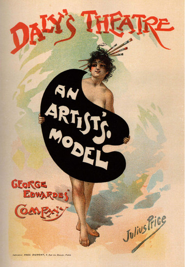 Dalys Theatre An Artists Model France Edwardes | Sex Appeal Vintage Ads and Covers 1891-1970