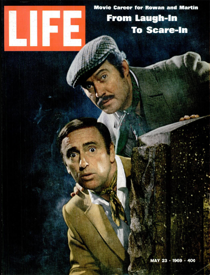 Dan Rowan Dick Martin Laugh-In 23 May 1969 Copyright Life Magazine | Life Magazine Color Photo Covers 1937-1970