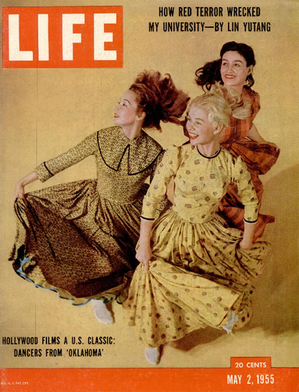 Dancers from the Film Oklahoma 2 May 1955 Copyright Life Magazine   Life Magazine Color Photo Covers 1937-1970