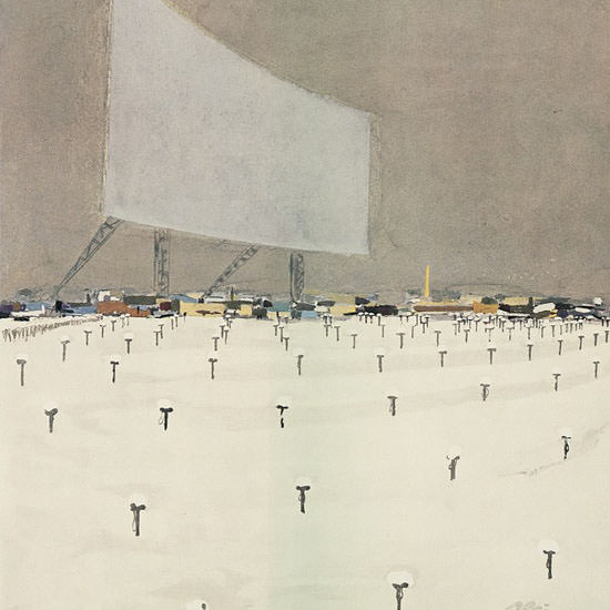 Daniel Alain Brustlein The New Yorker 1960_01_09 Copyright crop | Best of Vintage Cover Art 1900-1970