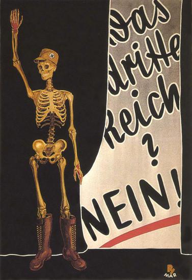 Das Dritte Reich Nein 1932 No To Third Reich | Vintage War Propaganda Posters 1891-1970