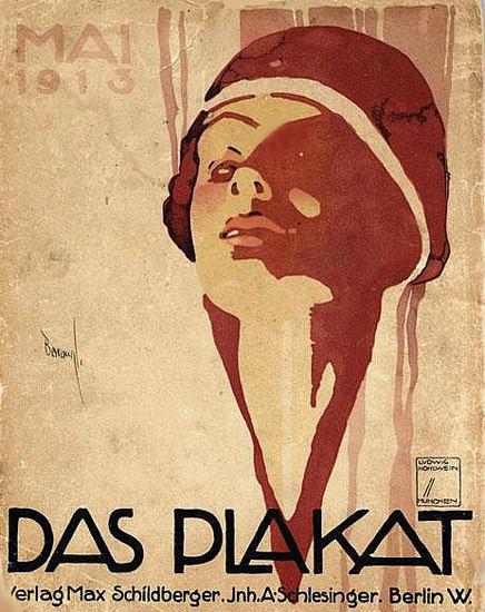 Das Plakat Verlag Max Schildberger 1913 Berlin | Sex Appeal Vintage Ads and Covers 1891-1970