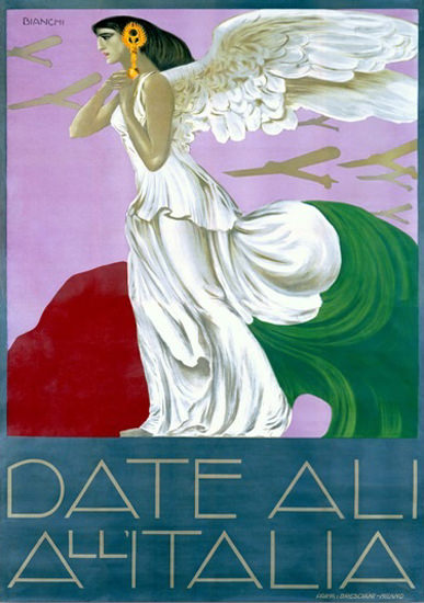 Date Ali All Italia Angel Airplanes Alberto Bianchi | Sex Appeal Vintage Ads and Covers 1891-1970
