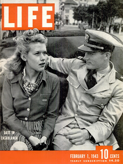 Date in Casablanca 1 Feb 1943 Copyright Life Magazine | Life Magazine BW Photo Covers 1936-1970