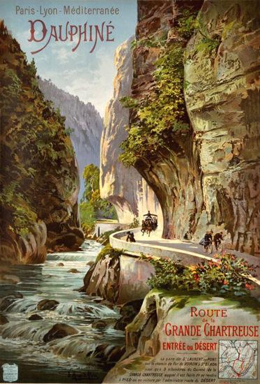 Dauphine Route De La Grande Chartreuse 1895   Vintage Travel Posters 1891-1970