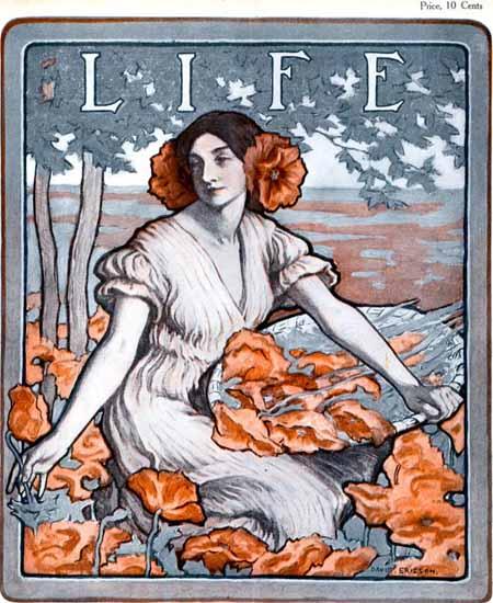 David Ericson Life Humor Magazine 1904-08-18 Copyright | Life Magazine Graphic Art Covers 1891-1936