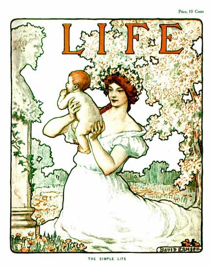 David Ericson Life Humor Magazine 1905-05-04 Copyright | Life Magazine Graphic Art Covers 1891-1936