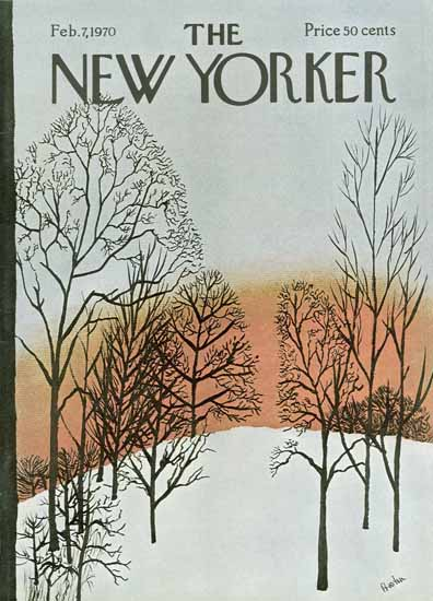 David Preston The New Yorker 1970_02_07 Copyright | The New Yorker Graphic Art Covers 1946-1970