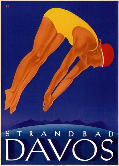 Davos Strandbad Switzerland 1933 Willy Trapp | Sex Appeal Vintage Ads and Covers 1891-1970