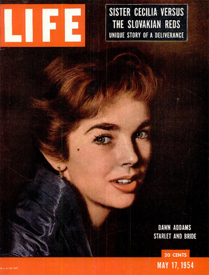 Dawn Addams Starlet and Bride 17 May 1954 Copyright Life Magazine   Life Magazine Color Photo Covers 1937-1970