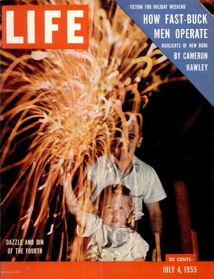 Dazzle and Din of the Fourth of July 4 Jul 1955 Copyright Life Magazine | Life Magazine Color Photo Covers 1937-1970