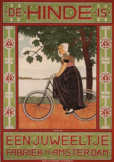 De Hinde Is Een Juweeltje Fabriek Te Amsterdam | Vintage Travel Posters 1891-1970