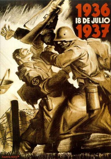De Julio 18 1937 | Vintage War Propaganda Posters 1891-1970