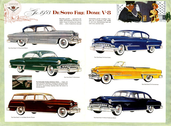 DeSoto 1953 V-8 Club Coupe Convertible Sedan | Vintage Cars 1891-1970
