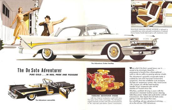 DeSoto Adventurer 2D HT Convertible 1959 | Vintage Cars 1891-1970
