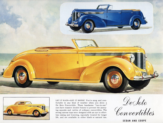 DeSoto Convertibles Let It Shine 1938 | Vintage Cars 1891-1970