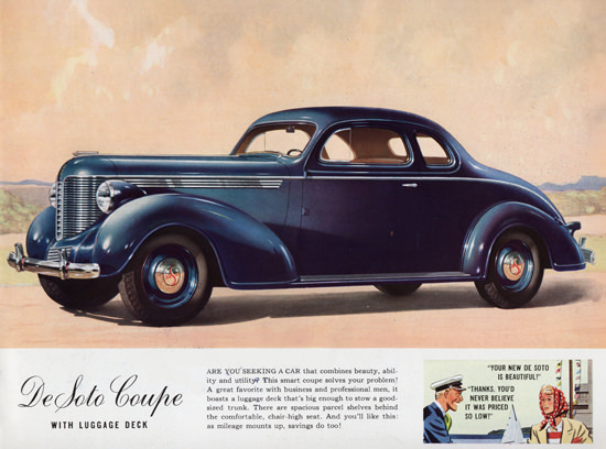 DeSoto Coupe Luggage Deck 1938 | Vintage Cars 1891-1970