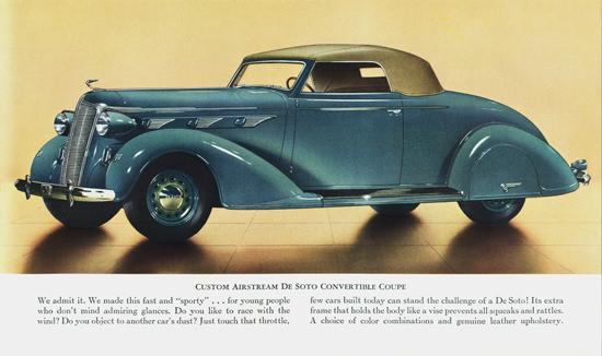 DeSoto Custom Airstream Conv Coupe 1936 | Vintage Cars 1891-1970