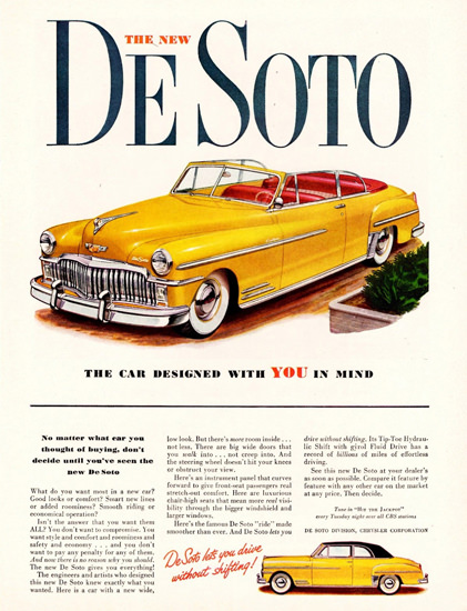 DeSoto Custom Convertible 1949 | Vintage Cars 1891-1970