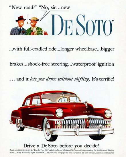DeSoto Custom Sedan 1950 New Road | Vintage Cars 1891-1970