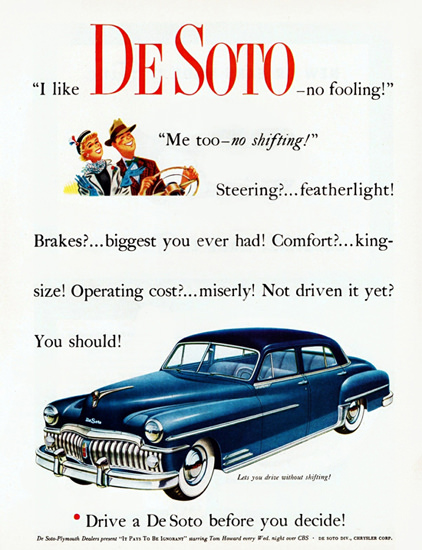 DeSoto Custom Sedan 1950 No Fooling | Vintage Cars 1891-1970