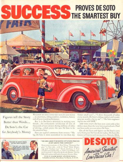 DeSoto Fair Red | Vintage Cars 1891-1970