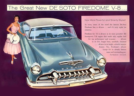 DeSoto Firedome V-8 Blue 1955 | Vintage Cars 1891-1970