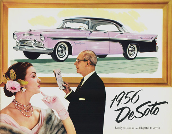 DeSoto Fireflite Sportsman 1956 | Sex Appeal Vintage Ads and Covers 1891-1970