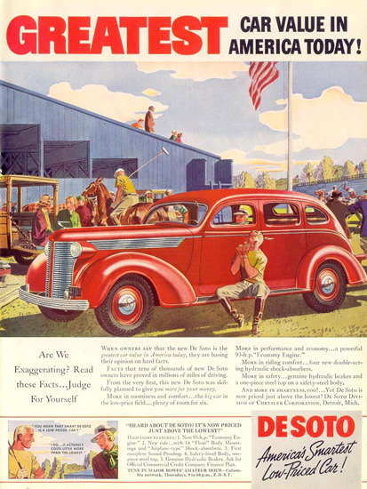 DeSoto Major Bowes Amateur Hour 1937 | Vintage Cars 1891-1970