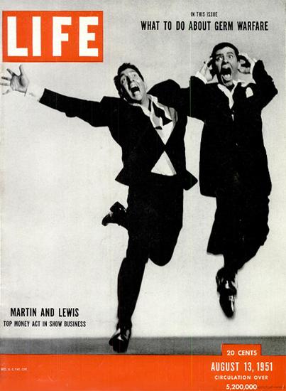 Dean Martin and Jerry Lewis 13 Aug 1951 Copyright Life Magazine | Life Magazine BW Photo Covers 1936-1970