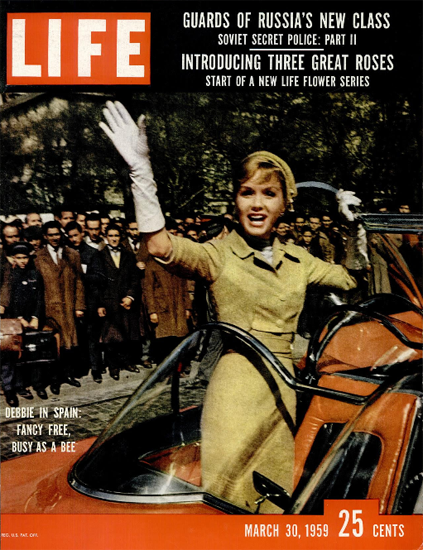 Debbie Reynolds busy in Spain 30 Mar 1959 Copyright Life Magazine | Life Magazine Color Photo Covers 1937-1970