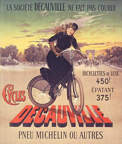 Decauville Cycles Ne Fait Pas Courir 1894 Michelin | Vintage Travel Posters 1891-1970
