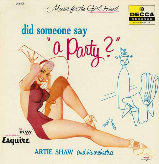 Decca LP Cover Did somone say a Party George Petty 1956 Sex Appeal | Sex Appeal Vintage Ads and Covers 1891-1970