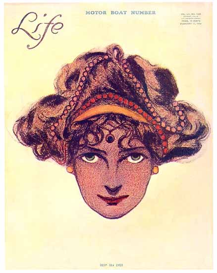 Deep Sea Eyes Life Humor Magazine 1910-02-17 Copyright | Life Magazine Graphic Art Covers 1891-1936