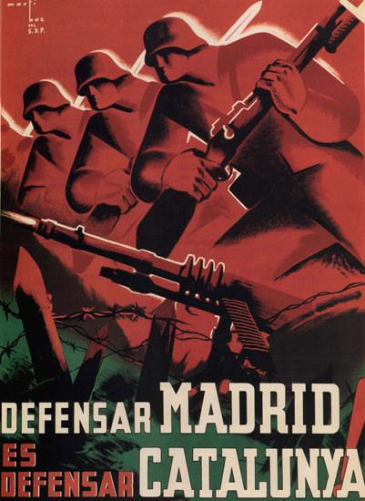 Defensar Madrid Es Defensar Catalunya Espana | Vintage War Propaganda Posters 1891-1970