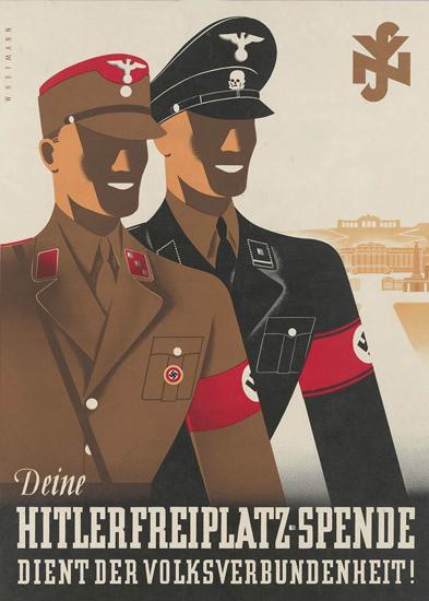 Deine Hitler Freiplatz-Spende Dient Dem Volk | Vintage War Propaganda Posters 1891-1970