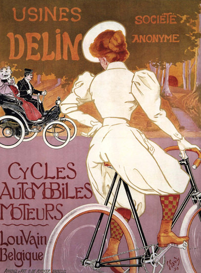 Delin Cycles Automobiles Moteurs Lou Vain | Sex Appeal Vintage Ads and Covers 1891-1970