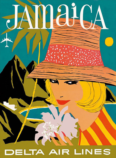 Delta Air Lines Jamaica 1960s | Sex Appeal Vintage Ads and Covers 1891-1970