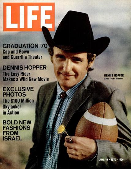 Dennis Hopper Easy Rider Director 19 Jun 1970 Copyright Life Magazine | Life Magazine Color Photo Covers 1937-1970