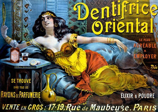 Dentifrice Oriental Paris Toothpaste Paleologue | Sex Appeal Vintage Ads and Covers 1891-1970