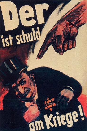 Der Jude Ist Schuld Am Krieg Jews Caused War | Vintage War Propaganda Posters 1891-1970